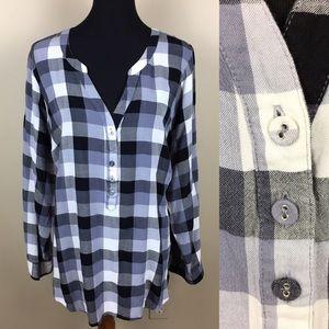 ModCloth black & white checkered top size 3X
